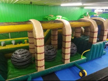 76Ft Gladiator Ball Hop Obstacle Course