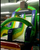 Rockwall Double Slide Obstacle Course